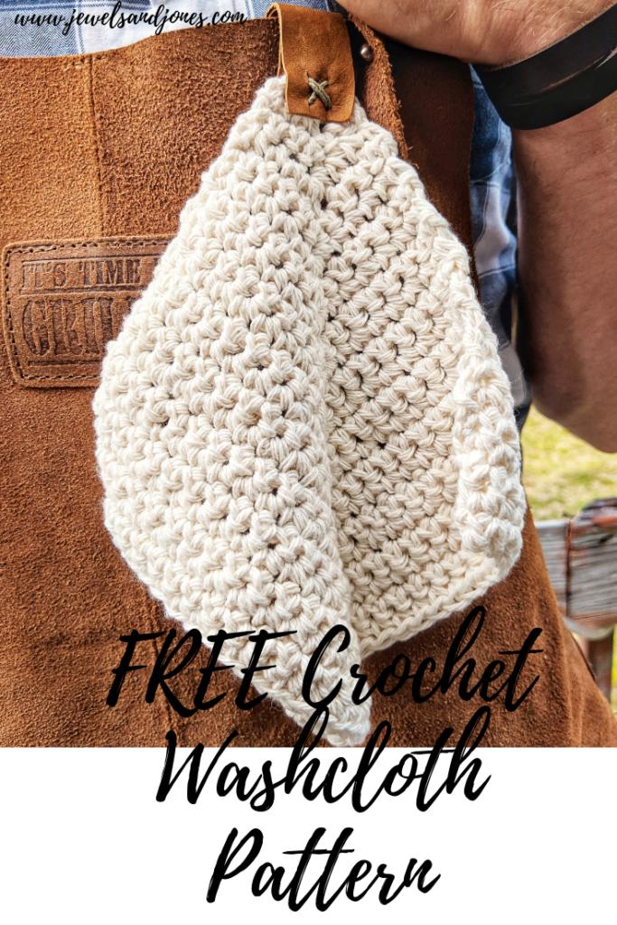 mitered crochet washcloth free pattern