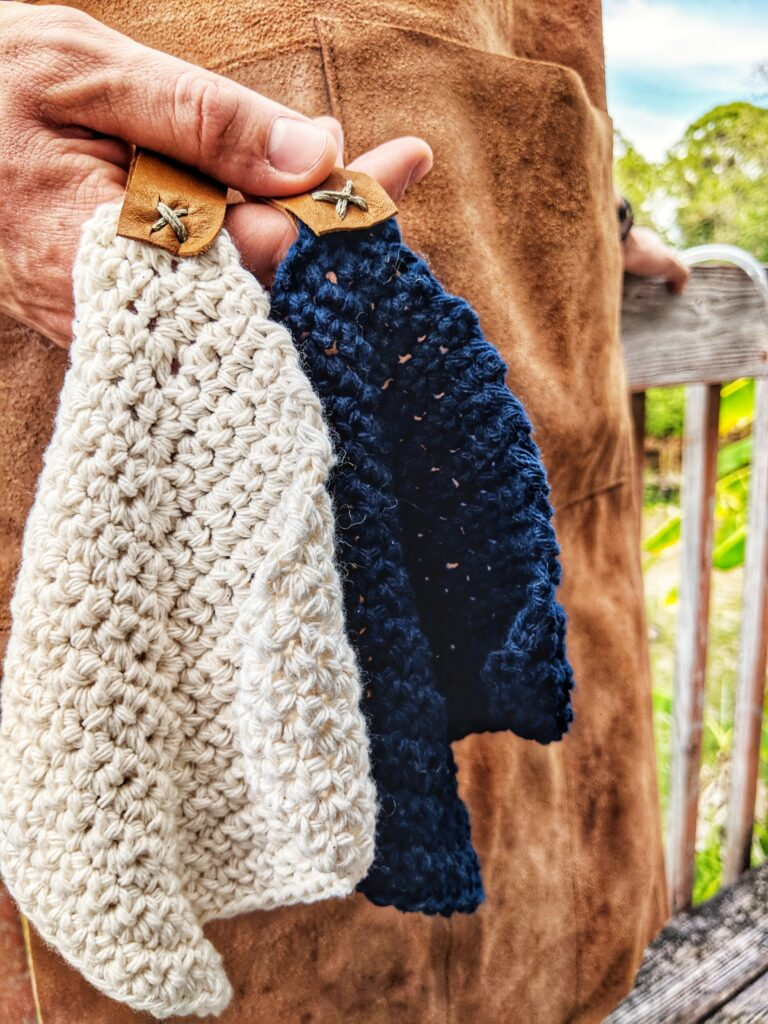 free crochet washcloth pattern for the mitered square