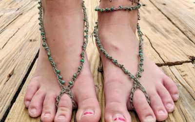 Free Crochet Pattern For Barefoot Sandals Jewels And Jones