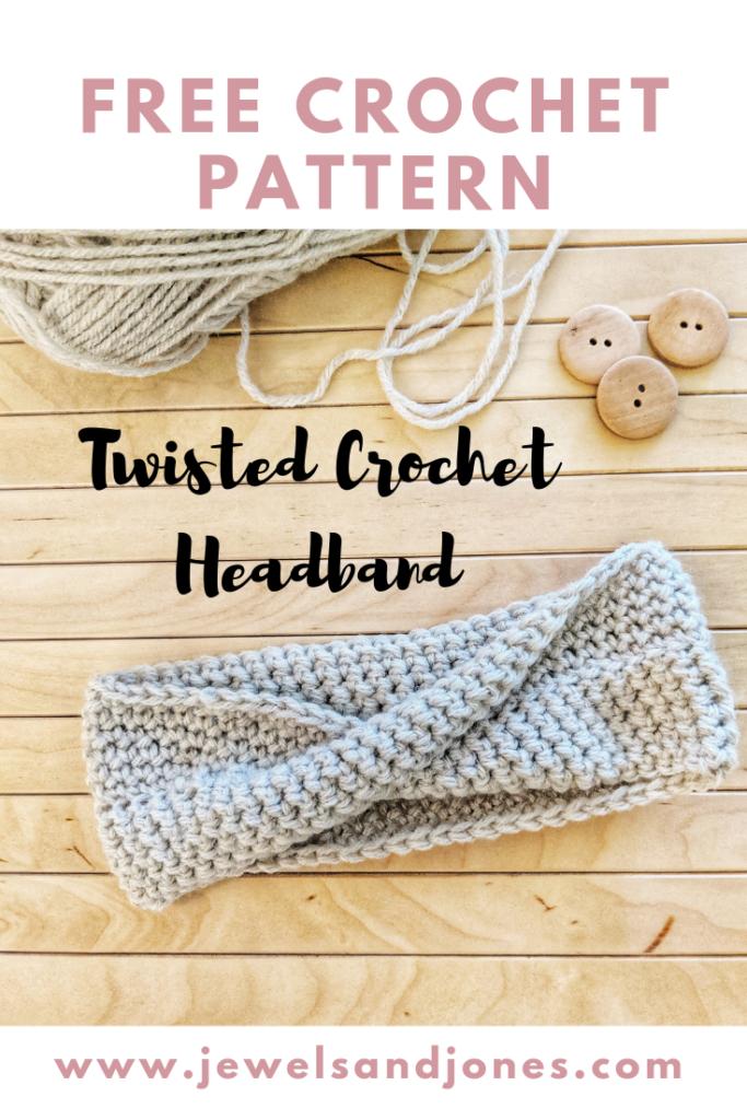 Single Crochet Twisted Headband