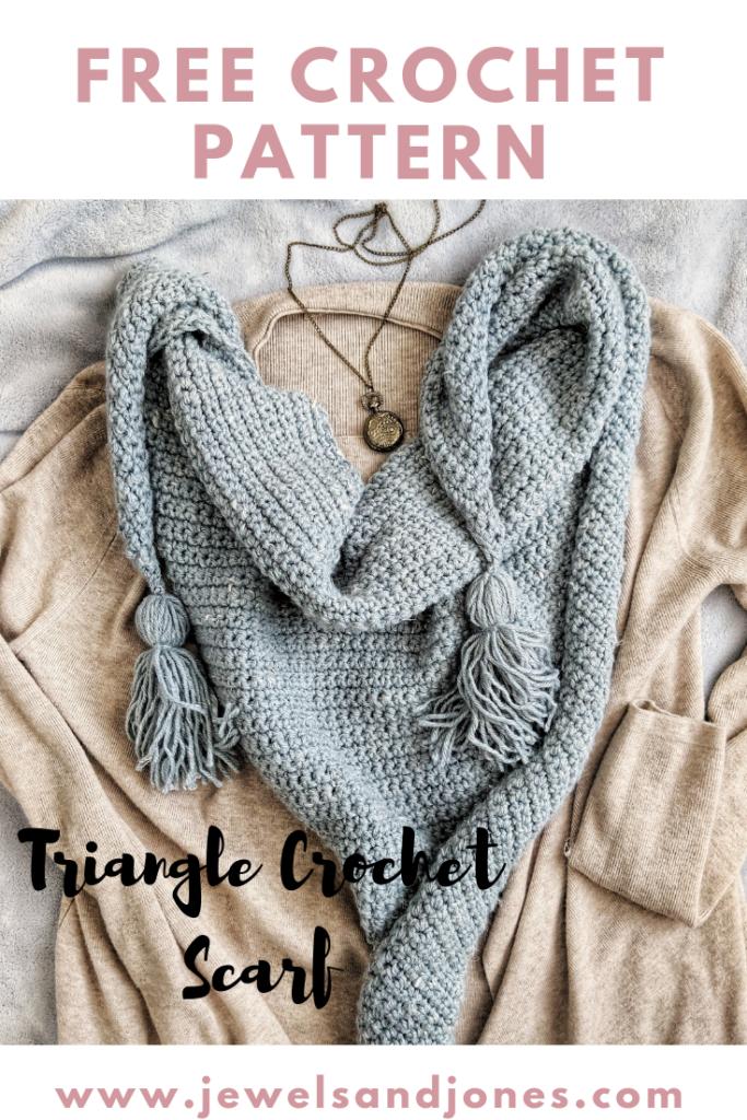 FREE CROCHET PATTERN for triangle crochet scarf
