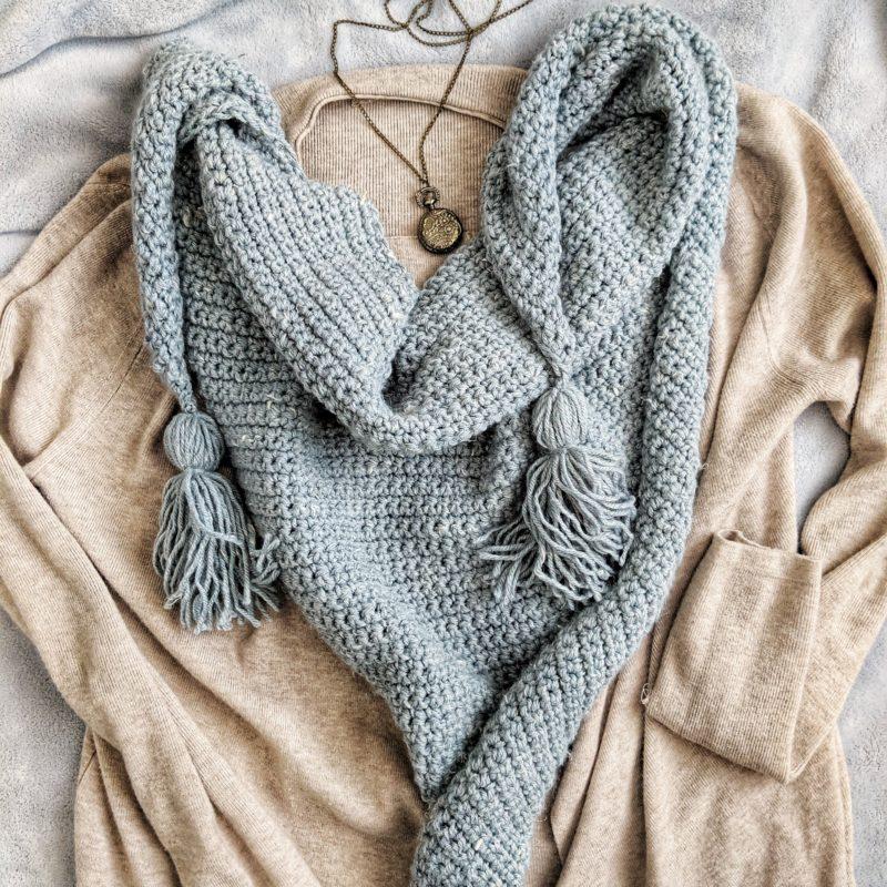 Crochet Triangle Scarf – FREE PATTERN