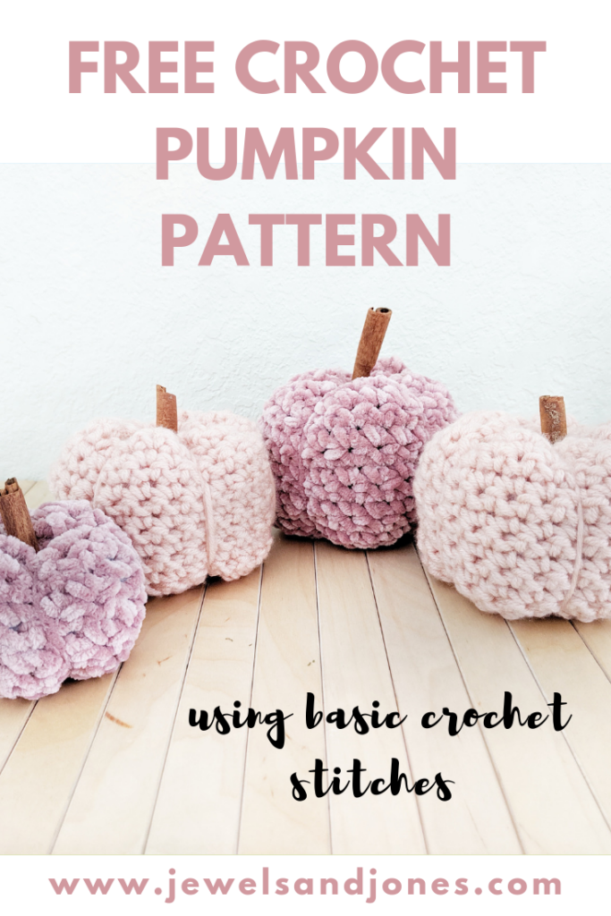 free pattern for crochet pumpkins using basic stitches