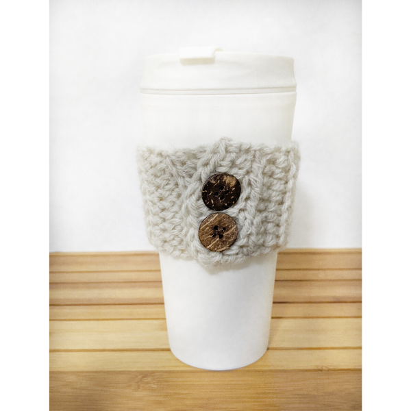 Easy Crochet Cup Cozy – Free Pattern