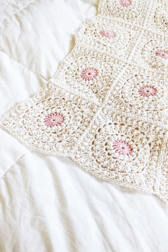 Circle of Friends crochet granny square blanket pattern