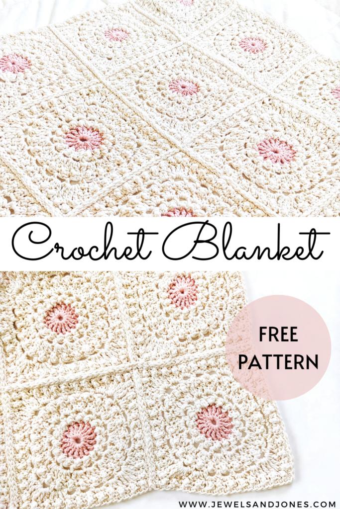 Crochet Granny Square Blanket free pattern