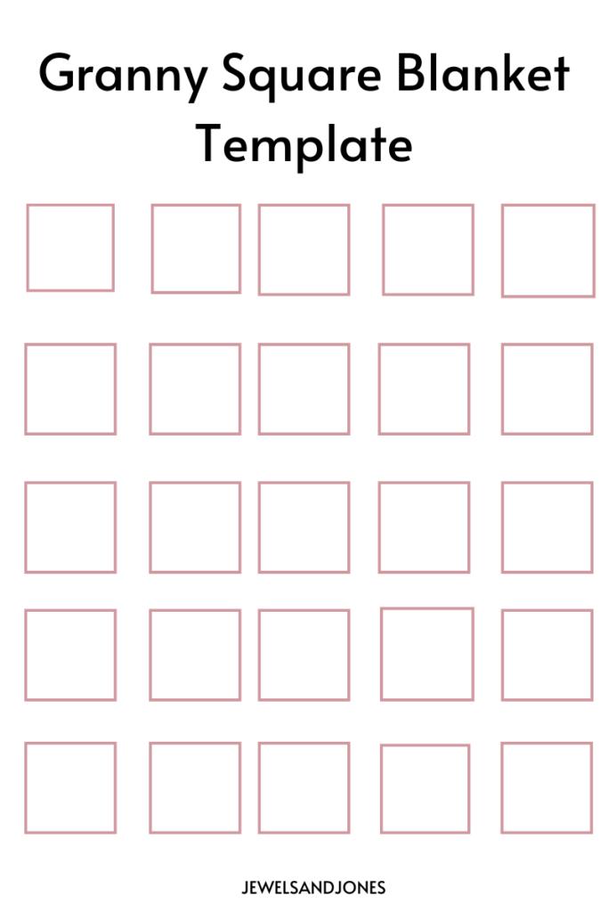 granny square blanket template