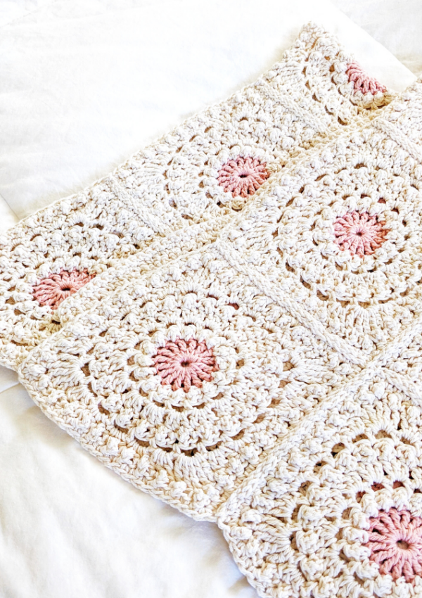 How to Crochet a Granny Square Blanket + Seaming it Together