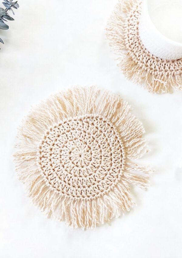 Boho Crochet Coasters- Free Crochet Pattern