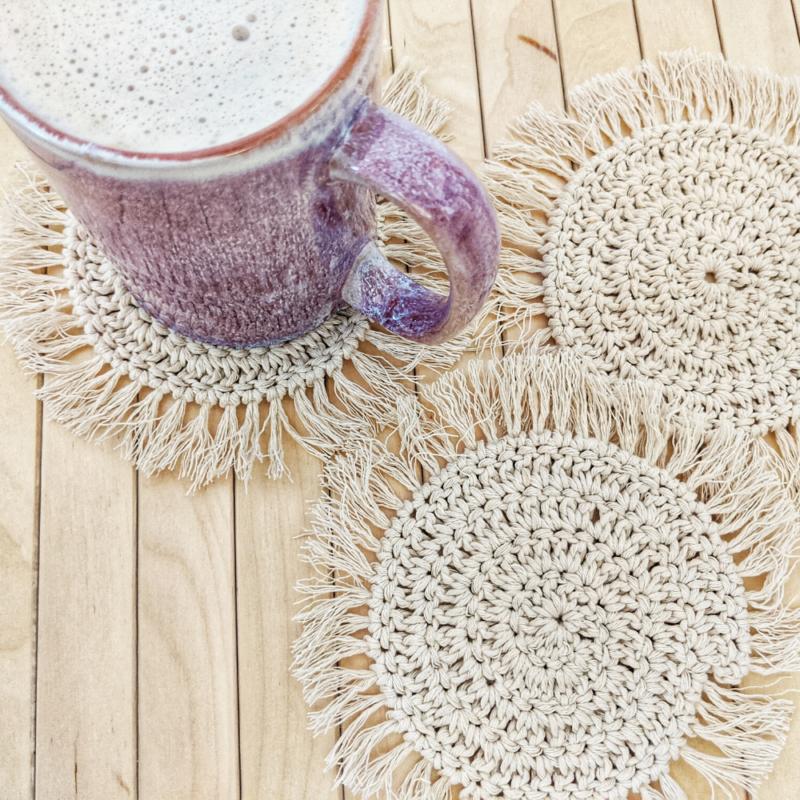 Boho Spiral Coasters – Free Crochet Pattern