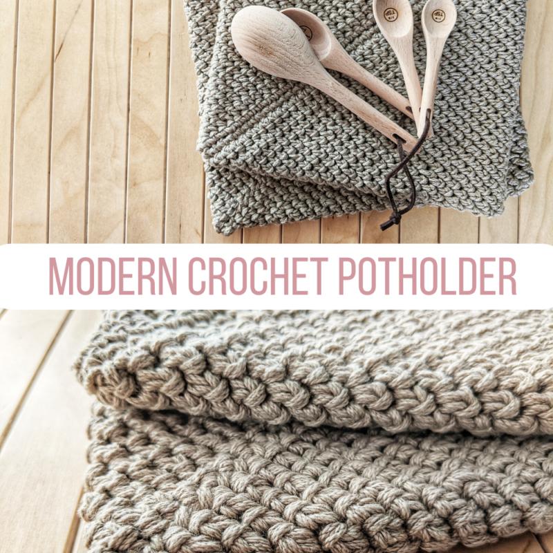 Modern Thick Crochet Potholder