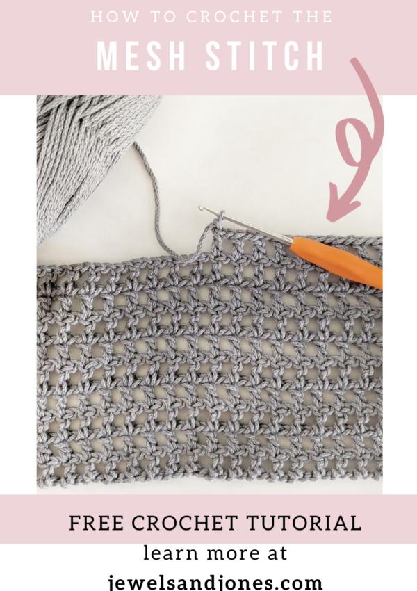 create a simple crochet mesh stitch