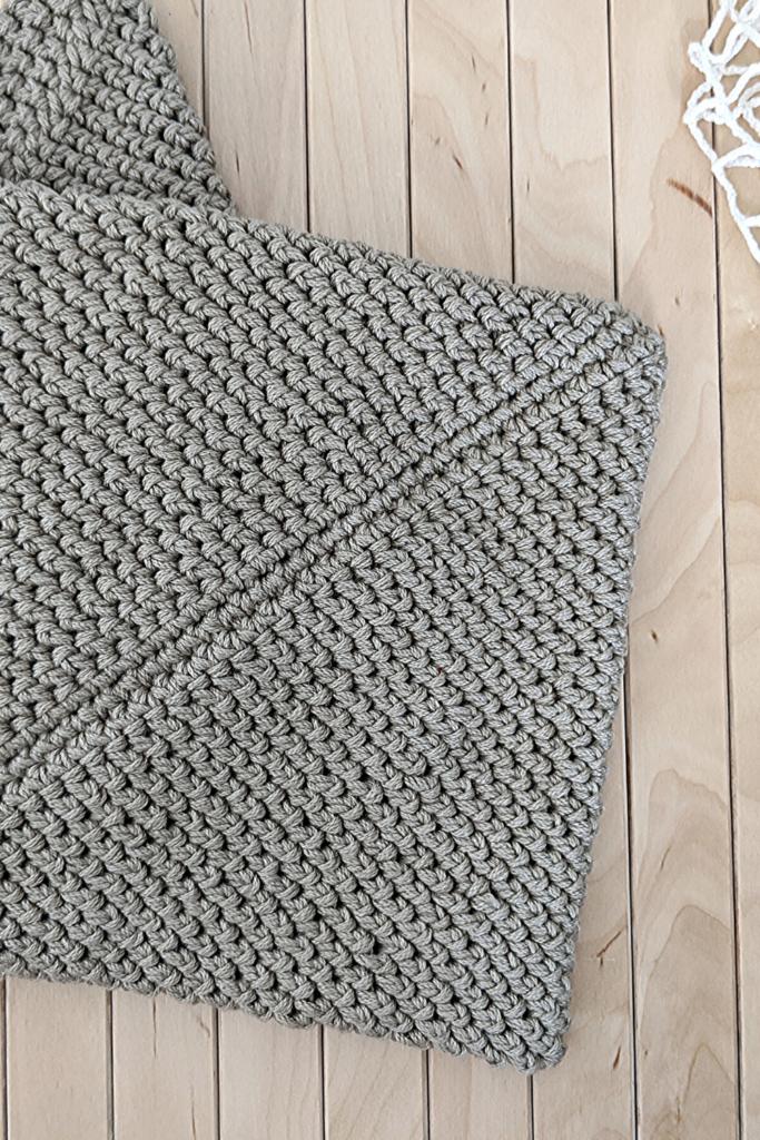 double thick crochet potholder
