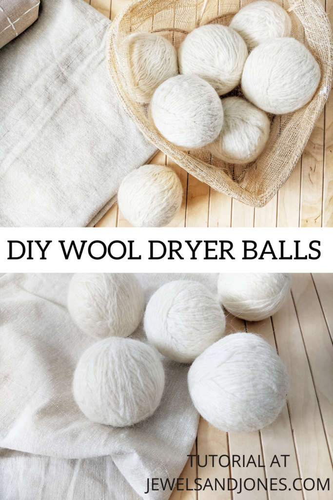 how to use left wool yarn to create dryer balls.