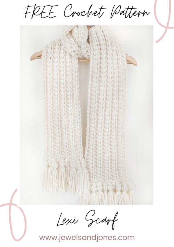 Easy Chunky Crochet Scarf – Free Crochet Pattern