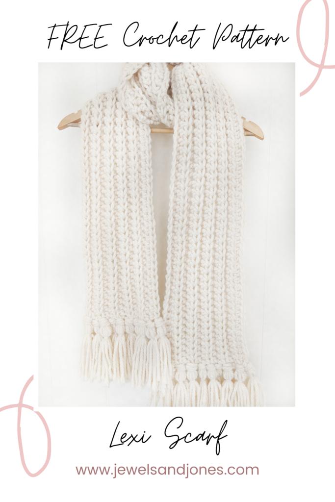 the chunky crochet scarf a beginner crochet scarf pattern free