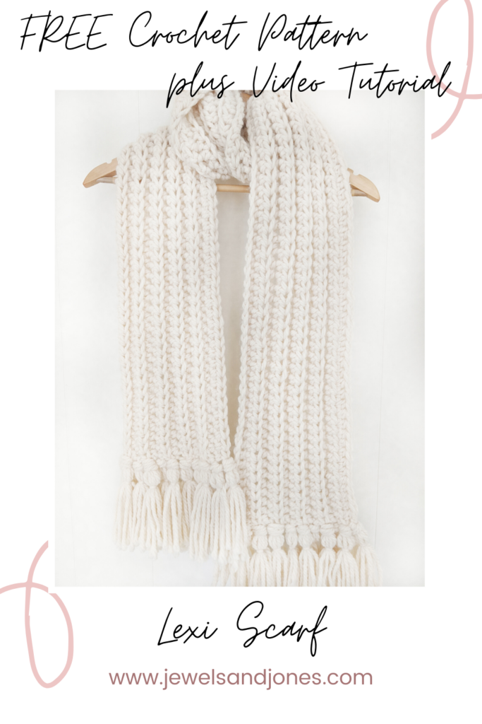 chunky crochet scarf a free pattern and video tutorial