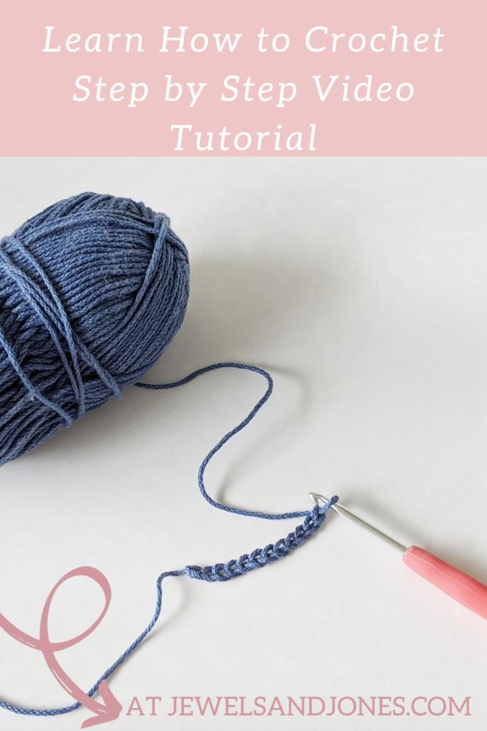 learn how to crochet using this beginner friendly crochet video tutorial