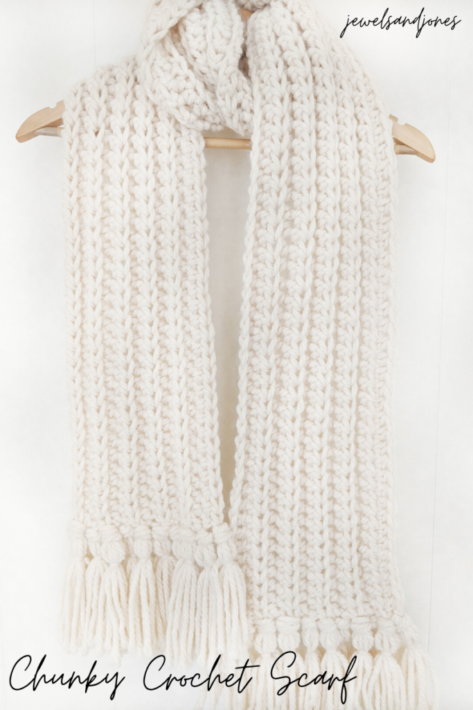 Easy Chunky Crochet Scarf Free Crochet Pattern Jewels And Jones