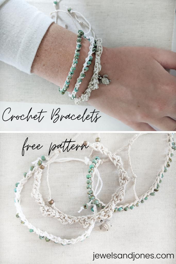a free crochet beaded bracelet pattern