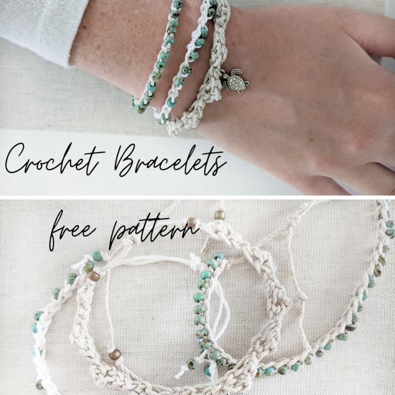 Crochet Beaded Bracelets – Free Crochet Pattern