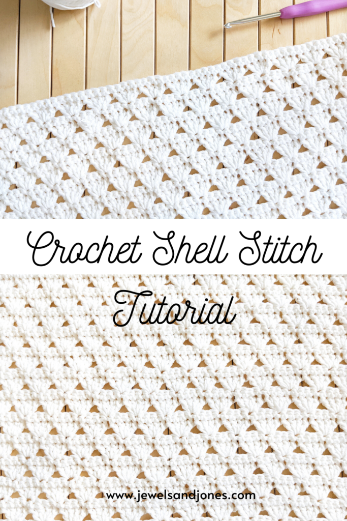 learn how to crochet an easy shell stitch with this beginner-friendly crochet tutorial