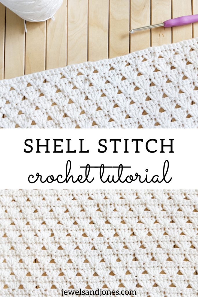 How to crochet an easy shell stitch with this beginner-friendly crochet tutorial.