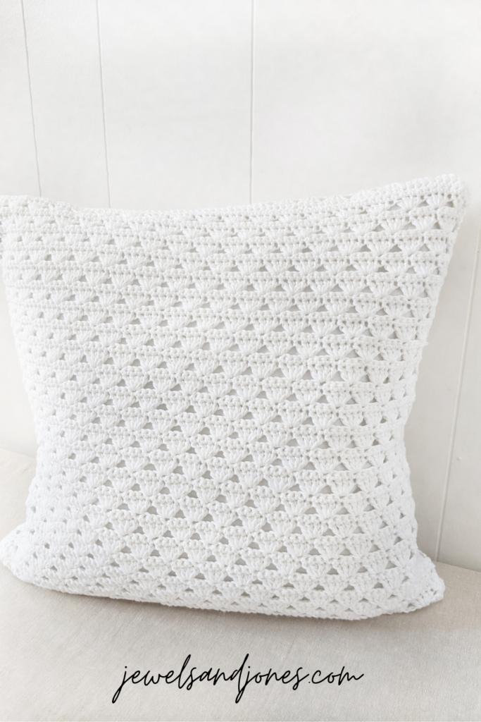 crochet shell stitch pillow pattern