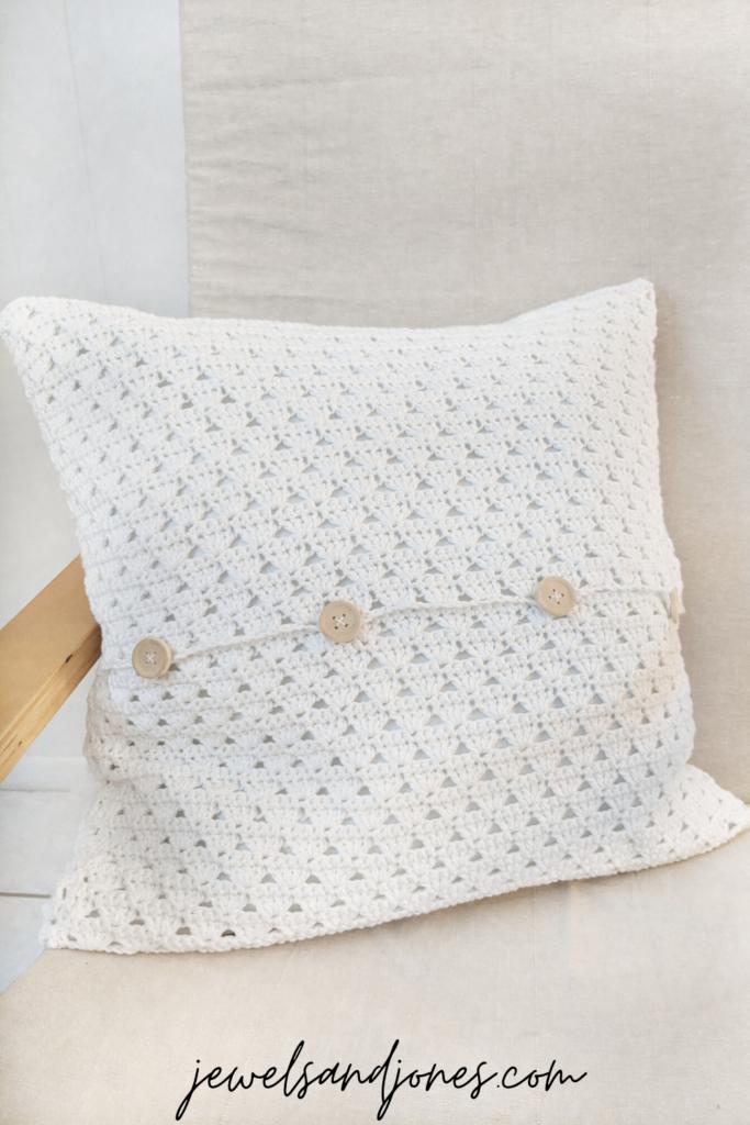 shell stitch crochet pillow pattern