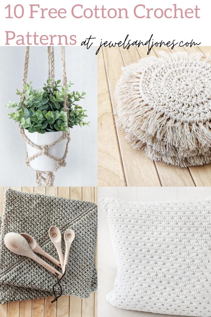 10 easy free cotton crochet patterns