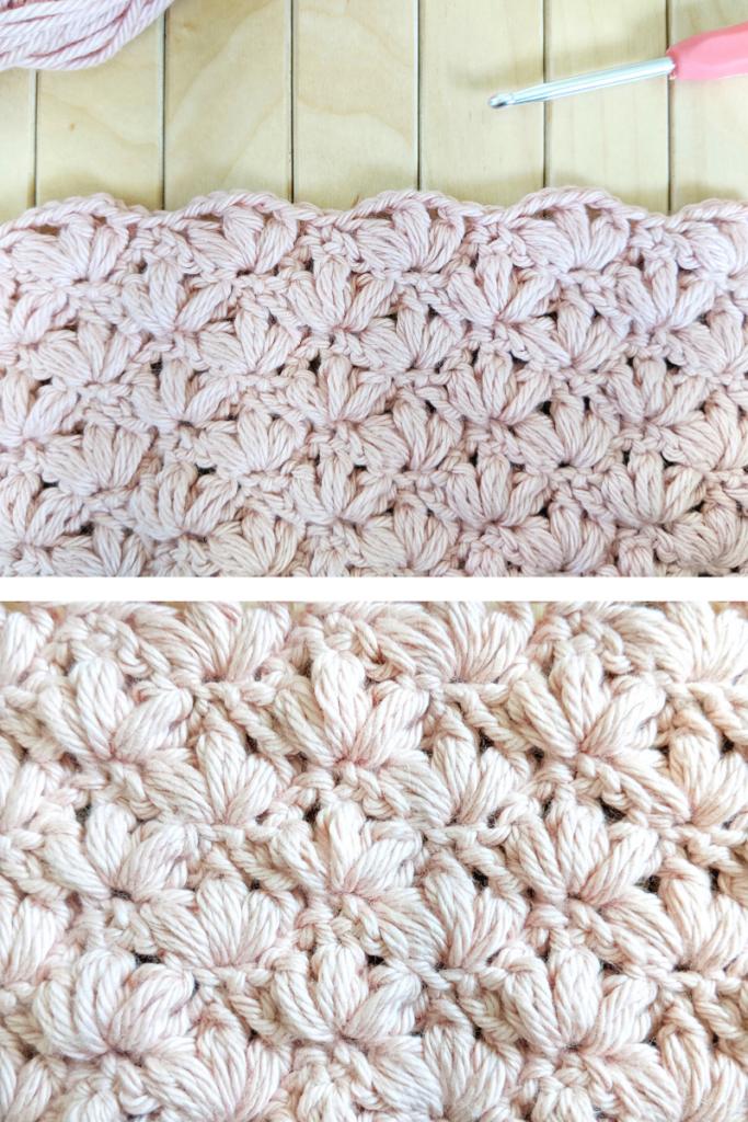 crochet lotus stitch free tutorial