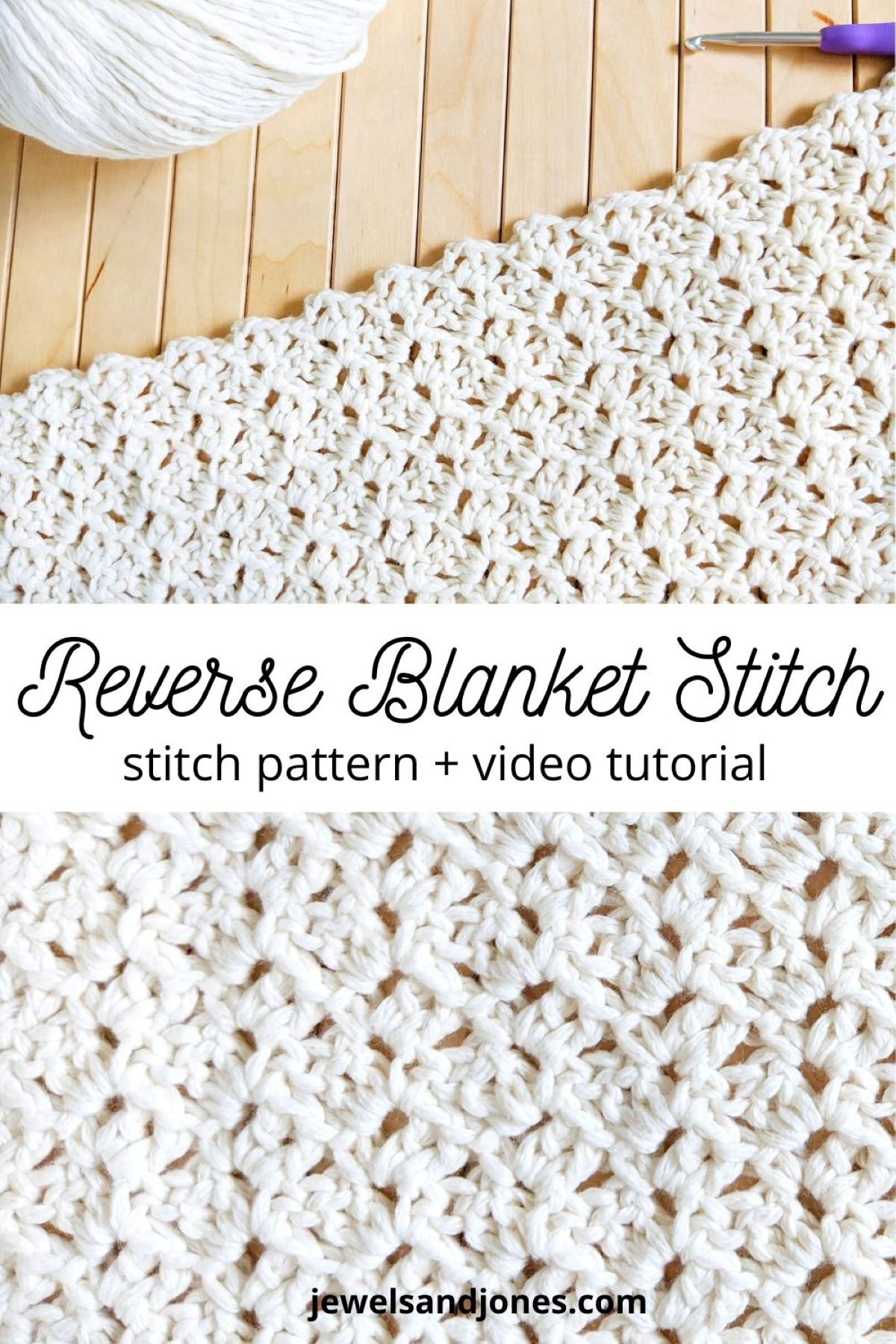 how to crochet the reverse blanket stitch