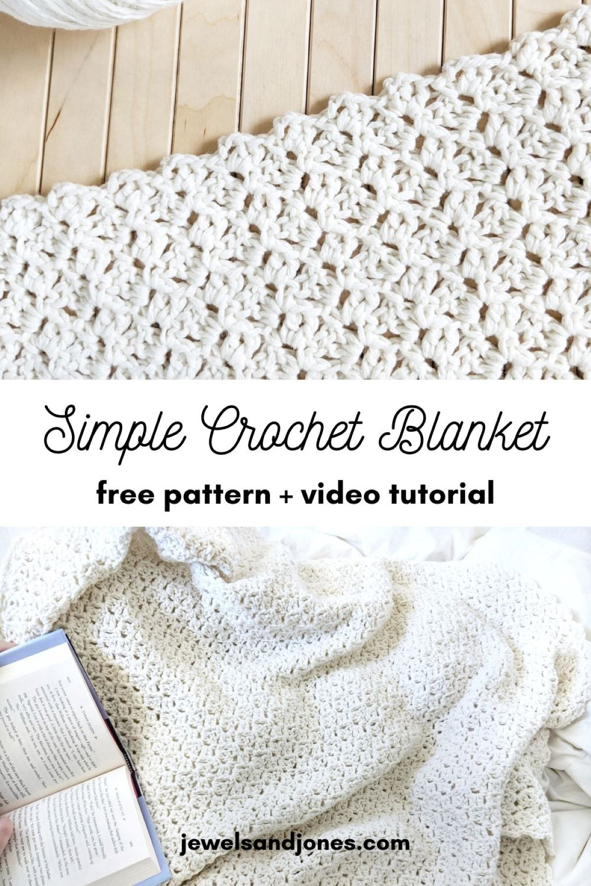 simple beginner crochet blanket free pattern
