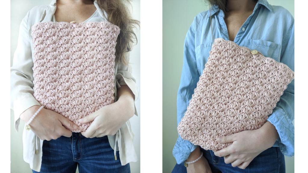 The lotus crochet laptop case free pattern