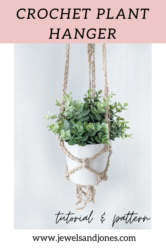 learn how to make a crochet plant hanger