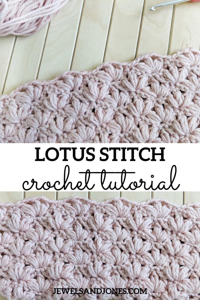 the crochet lotus stitch - a free tutorial