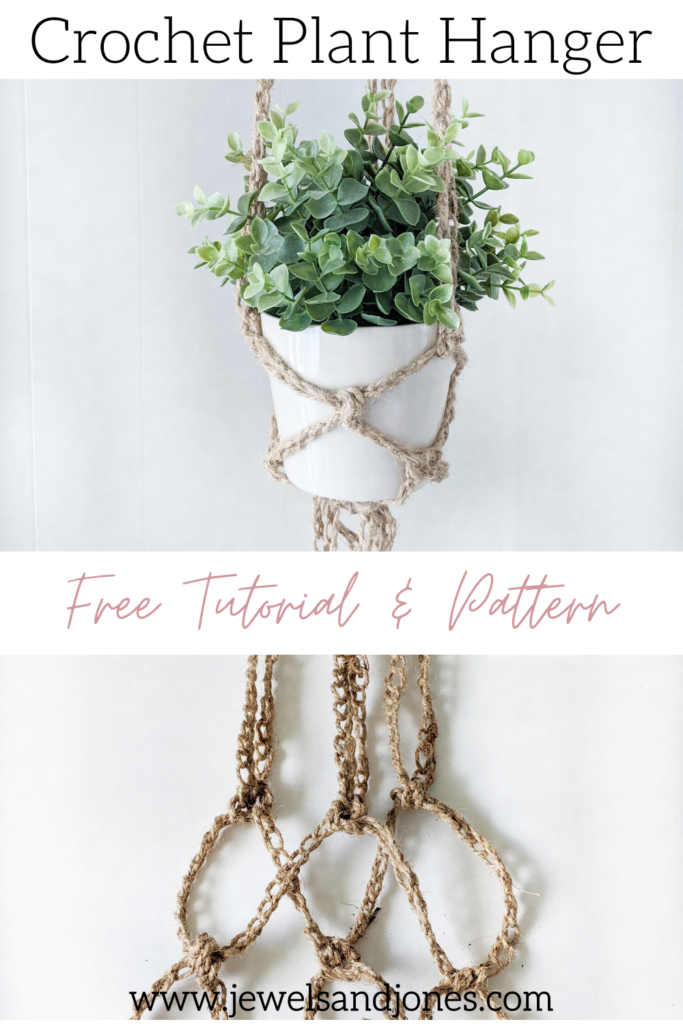 free tutorial and pattern for the plant hanger, crochet