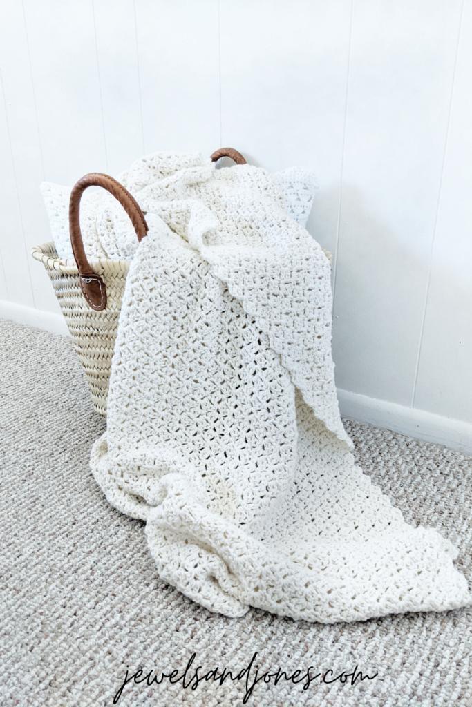 the crochet throw blanket, an easy free crochet pattern blanket