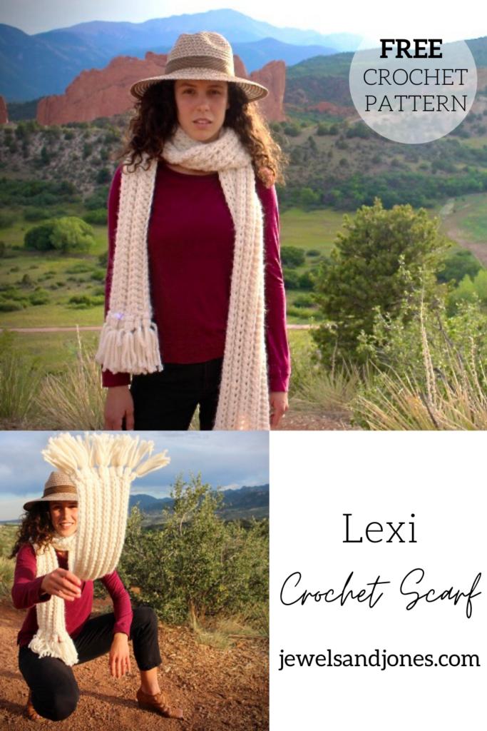 the lexi crochet scarf, free pattern