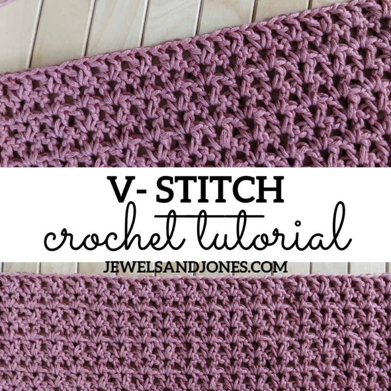 How to Crochet The V-Stitch – Free Tutorial
