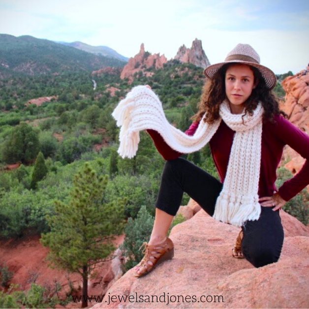 the lexi crochet beginner scarf