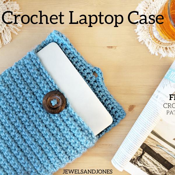 easy crochet laptop case free pattern