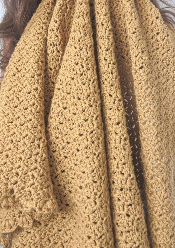 Cozy Cotton Crochet Throw – Free Pattern