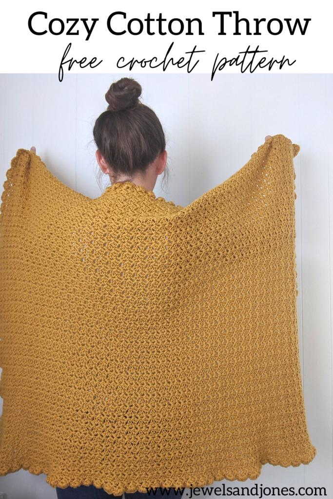 cozy cotton sunflower crochet throw free pattern