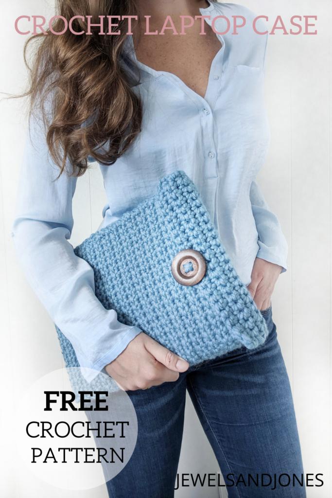 easy crochet laptop case pattern