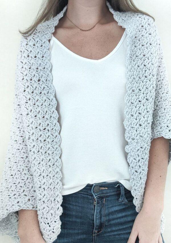 Crochet Blanket Shrug – Free Pattern