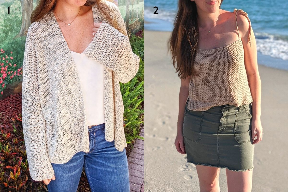other free crochet cardigan + top patterns
