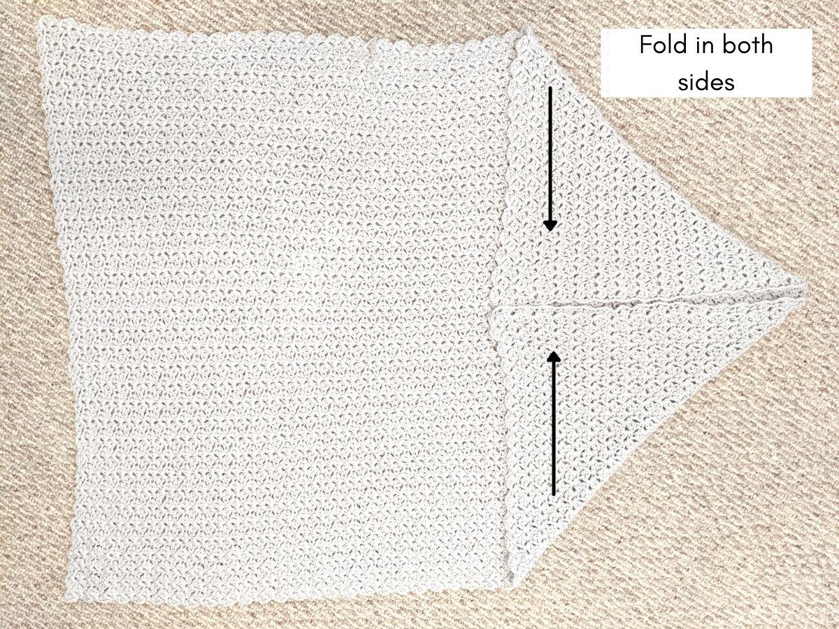 how to seam the crochet blanket shrug