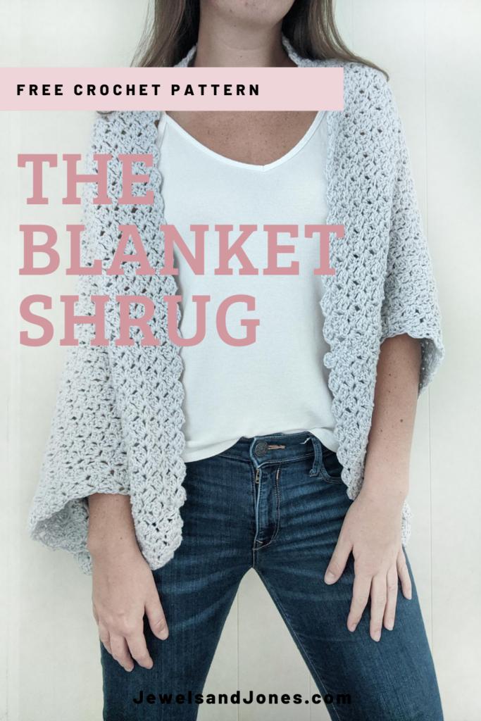 the blanket shrug pin image, free crochet shrug pattern
