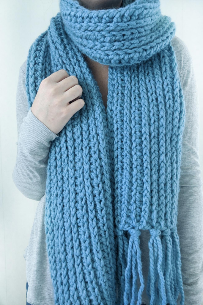 the mammoth crochet scarf - free crochet pattern